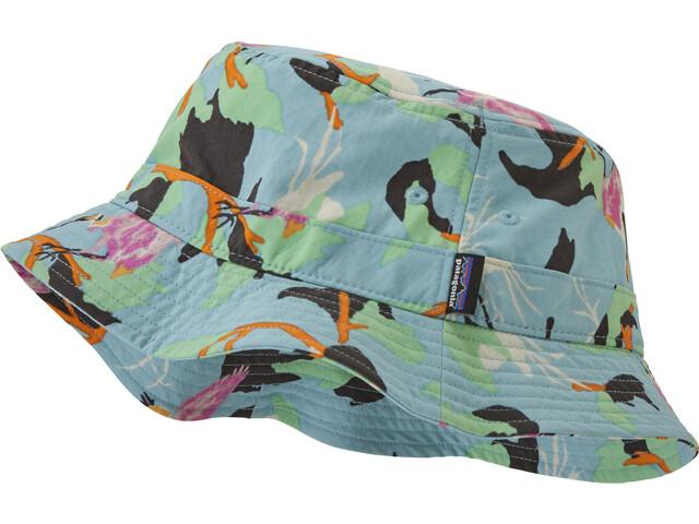 Patagonia Wavefarer Bucket Hat, spoonbills/big sky blue